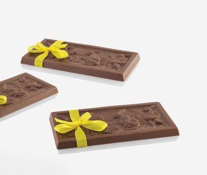 Tablette de chocolat en relief